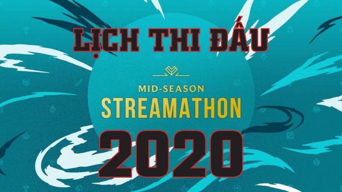 Lịch thi đấu Mid Season Streamathon 2020 Siêu kinh điển Trung - Hàn